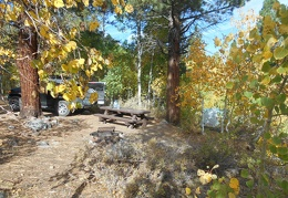 I wake up to a beautiful autumn morning at tranquil Obsidian Campground