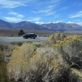 Back on Hwy 395, I find a nice stop between the Sierras and the Mono Craters
