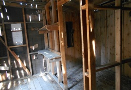 Inside the cabin, some of the framing appears to be rather recent