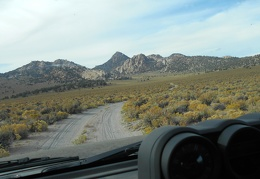 I feel happy to leave pavement and drive the dirt road into Granite Mountains Wilderness again