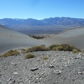 This saddle in the Mono Craters lets me see over to the Sierra Nevada