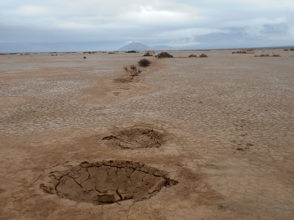 Hmmm...  mini-craters in Panamint Dry Lake
