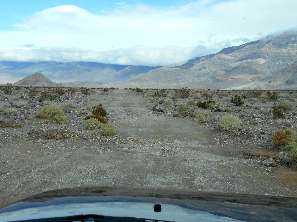 Next, I slowly drive Panamint Dunes Road, over its many small, deep dips