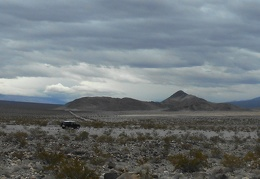 I park and walk around, enjoying the view of Lake Hill  poking up into Panamint Valley
