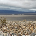 Small rocks of many colors rolls down the alluvial fan into Panamint Valley