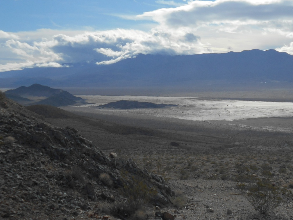 Panamint Dry Lake gets sun, while the Argus Range doesn't