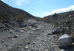 Nadeau Trail bumps its way up the wash out of Panamint Valley