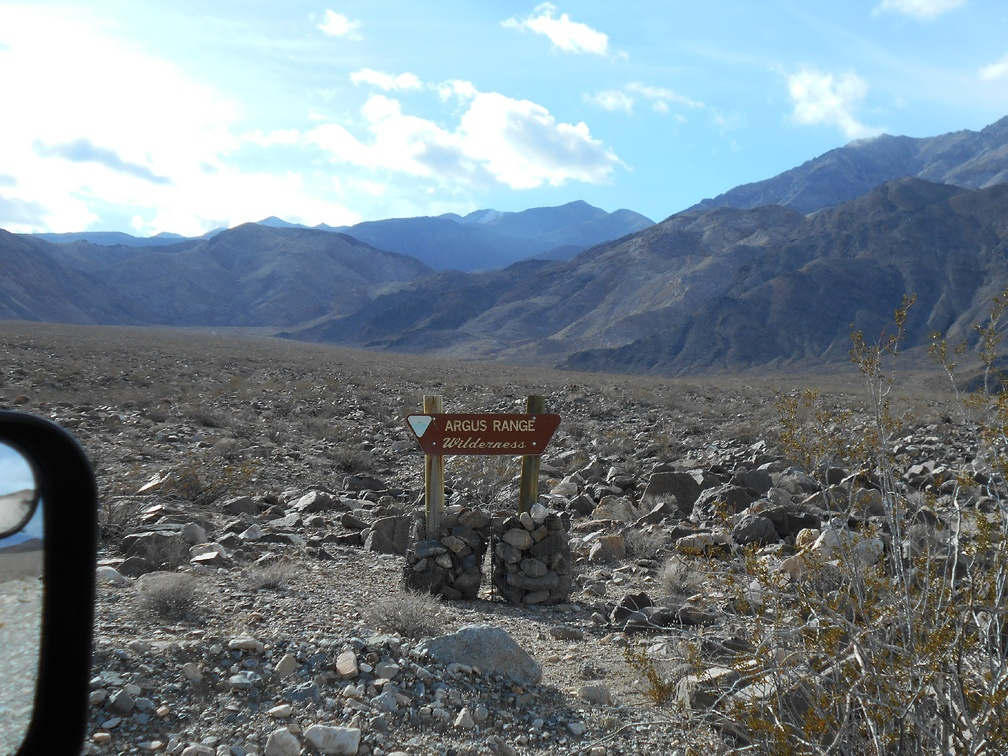 I pass another sign indicating the Argus Range Wilderness