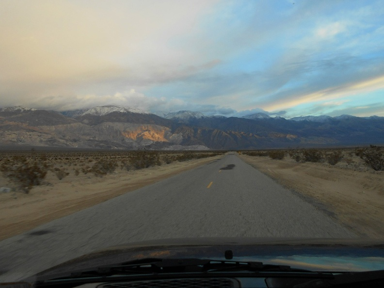 It's time to watch the effects of the setting sun as I drive down Panamint Valley Rd