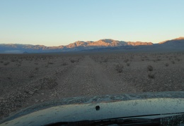 I've just reached Panamint Dunes Rd, but the wind is really strong over here