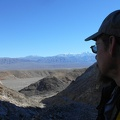 Up on the trail to Modoc Mine, I gaze down to Nadeau Trail and across Panamint Valley