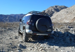 The FJ flexes nicely when driving over uneven terrain