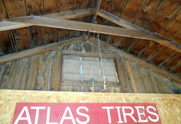 "A cord and pulley system opens the ""attic"" vents for hot-air escape on hot days"