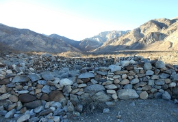 I walk over to another set of rock walls in the mouth of Thompson Canyon