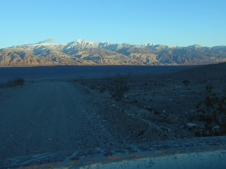 Minietta Road drops down into Panamint Valley and treats me to another desert sunset