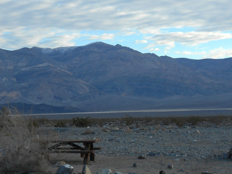 Early morning, I'm up and looking across Panamint Valley at today's hiking destination