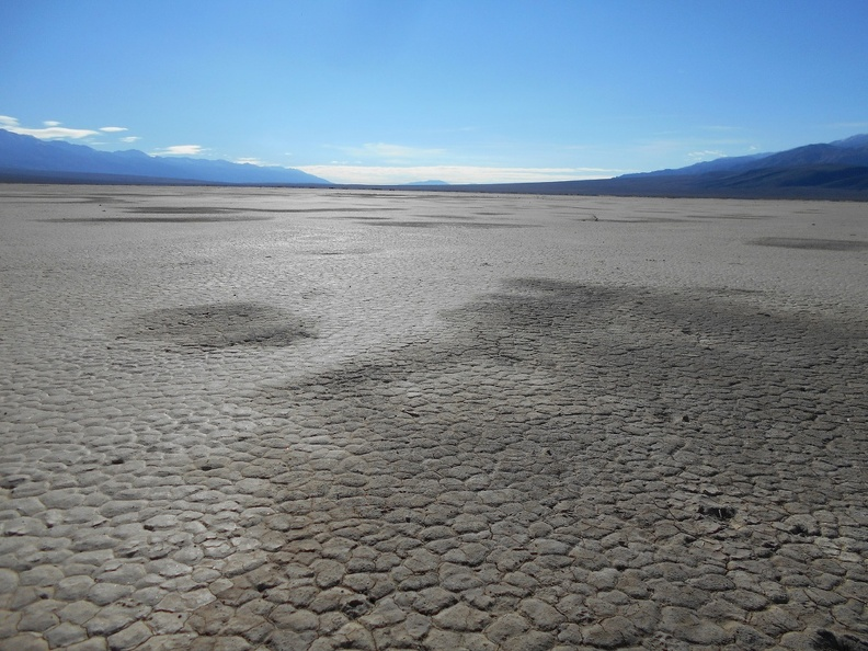 Panamint Dry Lake was water-covered a few days ago, but is dry again, already