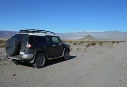I drive a couple of miles down Panamint Dunes Road, then park—my hike begins