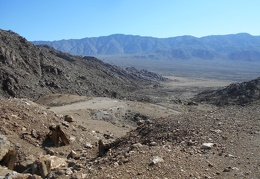 I climb a hill and look across Lippencott Wash and the south end of Saline Valley
