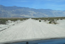 The day's drive on Saline Valley Road begins