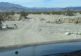 Back down on Saline Valley Road, I drive across a small wash