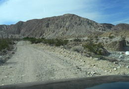 We start to drive uphill out of Saline Valley