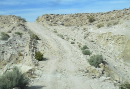 Saline Valley Rd becomes Waucoba Saline Rd as it climbs out of the valley