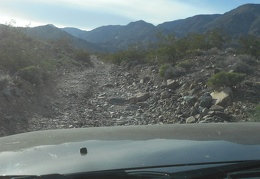 Finally, I begin the drive up into Lead Canyon: rough road
