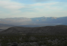 We leave a spectacular view of Saline Valley behind us as we walk up above Lead Canyon