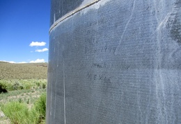 "1999 water-tank inscription, signed ""Mexico"""