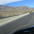 I pass two downhill bikepackers on the way up Hwy 190 toward Panamint Springs