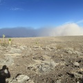 The Panamint Valley dust storm is casting a dark shadow on itself!