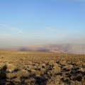 I look yet again behind me at the fading dust storm down in Panamint Valley