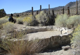 A cistern sits inside the old corral