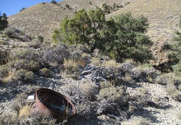 Here's an old wheel at the mine site