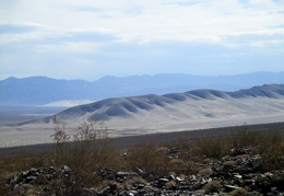 I can also see the Eureka Dunes in the distance past the Back Dunes