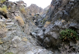 An easy, small, dry waterfall to climb just ahead