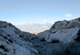 Between the marble outcrops is that view again across Panamint Valley