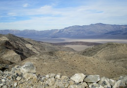 We can now see little black Lake Hill way up Panamint Valley