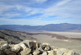 Behind the ruins, I get an even better view of rusty Ash Hill and Panamint Dry Lake