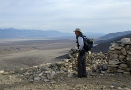 Eric absorbs the expansive views across Panamint Valley