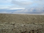 I see the small, dark pyramid of Lake Hill rising out of Panamint Valley