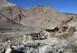 The cabin is situated to avoid flooding in Osborne Canyon