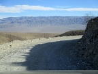 Minetta Road pops out through the pass to overlook Panamint Valley