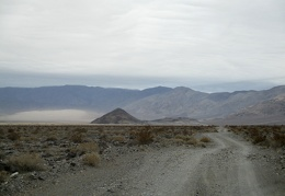 I drive up the road toward Panamint Dunes, a bit rougher than it looks