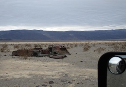 It's always fun looking at these old cars by Panamint Dry Lake