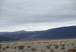 Across Panamint Dry Lake, Lee Wash canyon rises up to Darwin Plateau