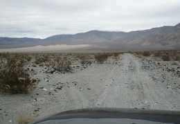 This road doesn't go all the way to the Panamint Dunes up there