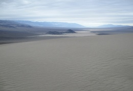 Ripples in a sea of sand descend from here down to Panamint Dry Lake