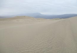 Light rain begins its pitter-patter on the Panamint Dunes
